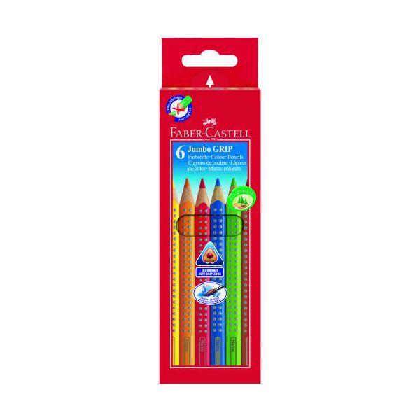 faber castell crayons de couleur fc grip crayon jumbo 6pcs. Black Bedroom Furniture Sets. Home Design Ideas