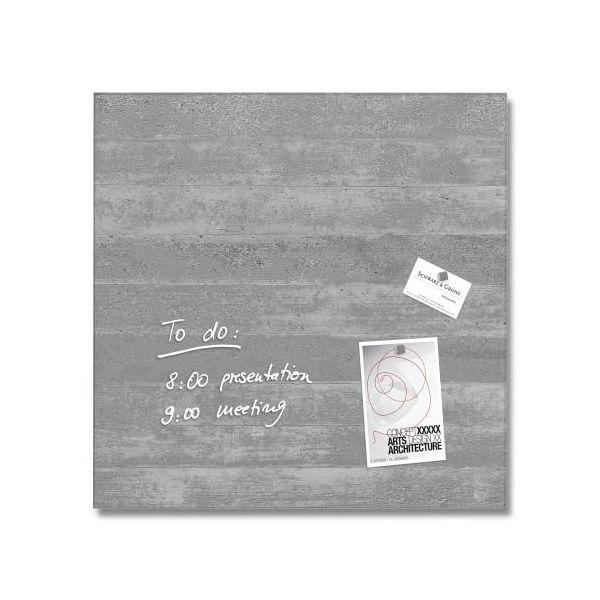 memoboards sigel glas magnet board artverum sichtbeton 480 x 480 x 15 mm. Black Bedroom Furniture Sets. Home Design Ideas