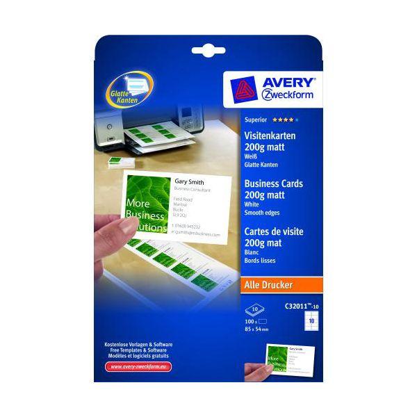 cartes de visite pour imprimantes jet d 39 encre carte visite quick clean 200g 10fls. Black Bedroom Furniture Sets. Home Design Ideas