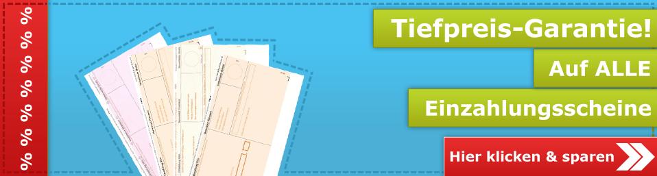 Einzahlungsscheine im Onlineshop von kopierpapier.ch
