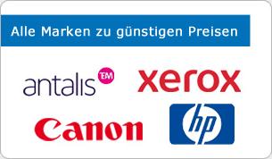 Kopierpapier Marken wie Xerox, Canon, HP, antalis