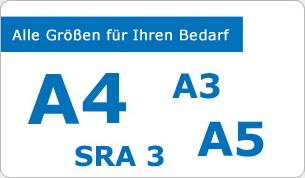 DIN A4, DIN A5, DIN A3 und alle g�ngigen Papierformate