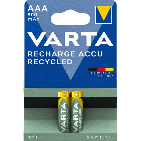 varta nimh akku recharge accu recycled micro aaa 800. Black Bedroom Furniture Sets. Home Design Ideas