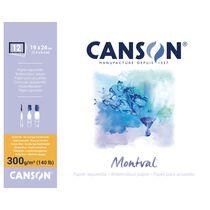 """CANSON Aquarellblock """"Montval"""", rundum geleimt, 190 x 240 mm"""