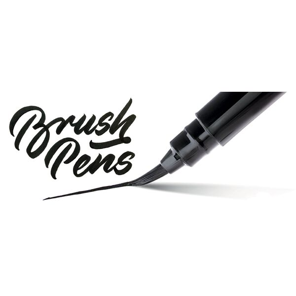 PentelArts Brush Pen Pinselstift, Gehäuse orange