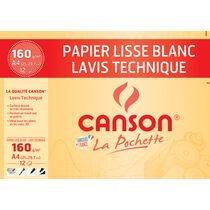 CANSON technisches Zeichenpapier, DIN A3, 160 g qm, weiss