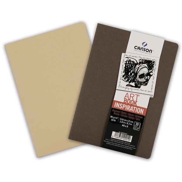 CANSON Skizzenheft Art Book Inspiration, A5, braun beige
