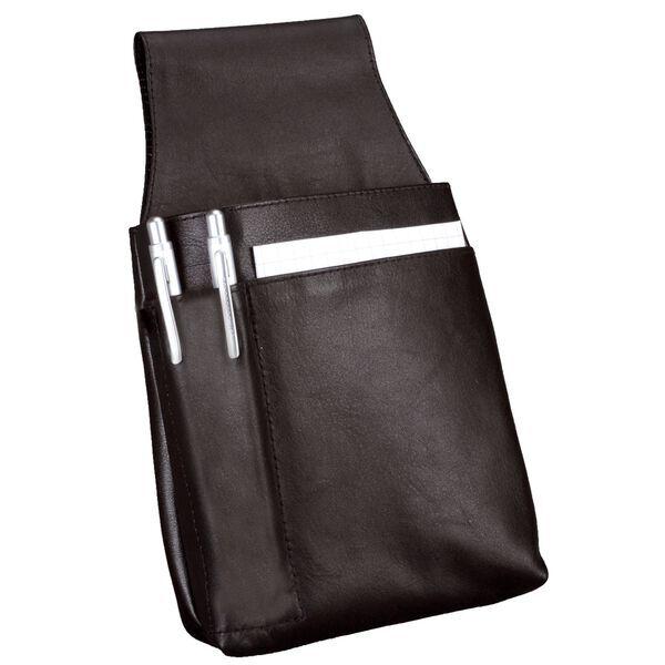 Alassio Schreibmappe Notizblock-Etui MONZA aus Leder schwarz DIN A8