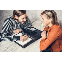 Alassio Tablet-PC Organizer A4 TRENTO, Lederimitat, schwarz