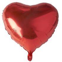 """PAPSTAR Folienballon """"Heart"""", Durchmesser: 450 mm, rot"""