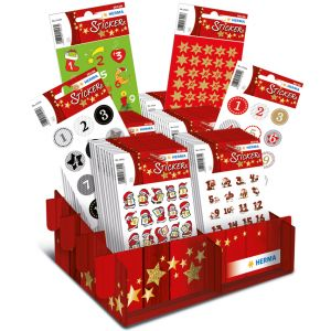 Herma Weihnachts Sticker Decor Adventskalender Im Display