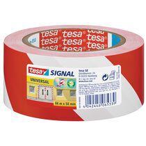 tesa Signal Markierungs- und Warnklebeband Universal, rot