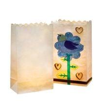 """folia Lichtertüte """"Blanko"""", klein, aus Papier, weiss"""