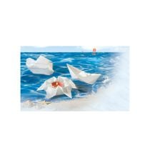 folia Faltblätter aus Schwimmpapier, 200 x 200 mm, weiss