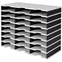 styro Grundeinheit styrodoc trio, 24 Fächer, schwarz grau