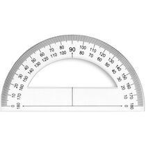 JPC Halb-Winkelmesser 180 Grad, 120 mm, aus Kunstoff