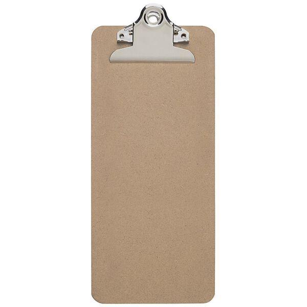 2392070 8 mm Klemmweite Hartfaser-Holz DIN A4 hoch Schreibplatte Maulbasic 12 St/ück Recycelbar Klemmbrett