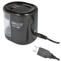 RAPESCO Elektrischer Doppel-Spitzer PS12-USB, schwarz