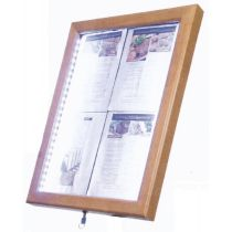 Securit LED-Schaukasten Classic, 4 x DIN A4, teak