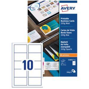 AVERY Cartes De Visite QuickClean 200 G M2 Blanc Mat CHF 2188