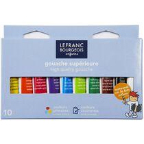 LEFRANC & BOURGEOIS Gouachefarbe, 10 x 10 ml, Etui