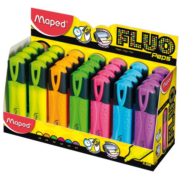 Maped Textmarker FLUO'PEPS Classic, 28er Display