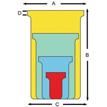 nobo T-Karten, Grösse 3 92 mm, 170 g qm, gelb