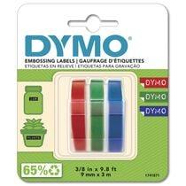 DYMO 3D-Prägeband 9mmx3m S0847730 schwarz 3 Stück