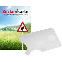 """RNK Zeckenkarte """"Safecard"""" mit Lupe, 85 x 54 mm"""