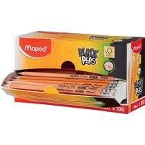 Maped Bleistift BLACK'PEPS, mit Radierer, 100er Displaybox