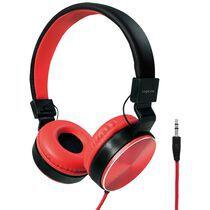 LogiLink Stereo Kopfhörer, faltbar, schwarz rot