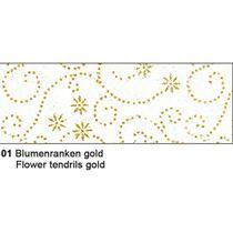 URSUS Glitterseide Blumenranken gold 60600001 100g 5 Stück