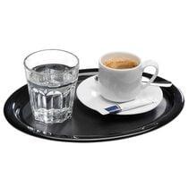 APS Serviertablett KAFFEEHAUS, oval, Melamin schwarz