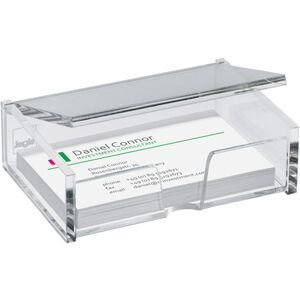 SIGEL Box Cartes De Visite VA112 Transparentsp 98x68x29mm 80