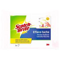 SCOTCH-BRITE Flecken-Radierer 11x7x3cm SB831/2 weiss 2 Stück