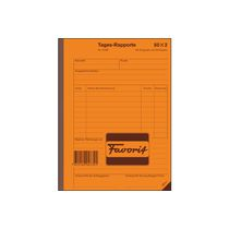 FAVORIT Tages-Rapporte A5 50x2 weiss/weiss mit Kohlepapier