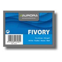 AURORA Cartes-fiche ligné A8 40020 blanc 100 pièces