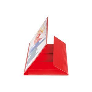 Präsentationsmappe A4 rot mit Sichttasche + 3 Klappen