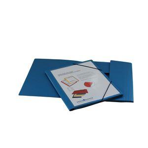 Präsentationsmappe A4 blau mit Sichttasche + 3 Klappen