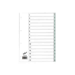 BüroLine Register 1-15 aus Polypropylen