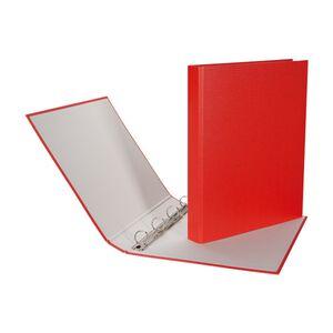 Zeigebuch Ringo-Plast A4 4-Ring Rücken 3,5cm rot