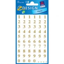 AVERY ZW. Z-DESIGN Letters gold 3728 7.5mm, Times Bold 124 St.