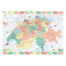KÜMMERLY+FREY Plano Büro Organisation CH 325990105 139x99cm 1:275'000