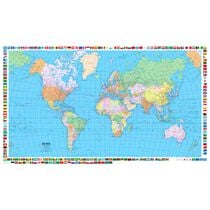 KÜMMERLY Plano-Weltkarte 87,5x51cm 325994031 politisch 1:50 Millionen