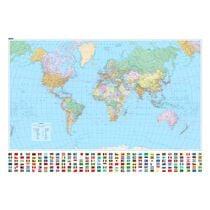 KÜMMERLY Plano-Weltkarte 138x99cm 325994019 politisch 1:30 Millionen