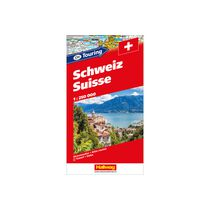 HALLWAG Atlas routière 13x24cm 382830048 CH-Touring Suisse 1:250'000
