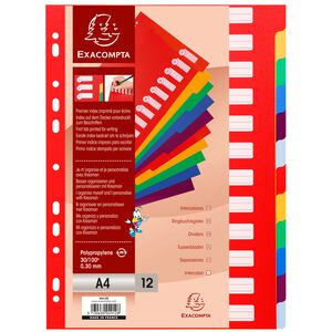 Register A4 6teilig PP Farben sortiert