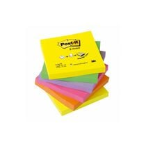 POST-IT Z-Notes refill Rainbow 76x76mm R330NRB 6-couleur neon 6x100 feuilleses