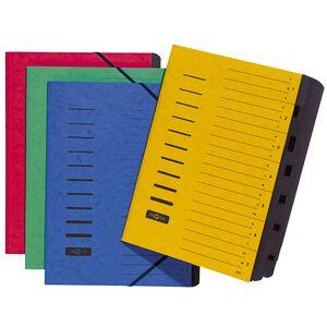 Ordnungsmappen 7-teilig Zahlen und A-Z grün