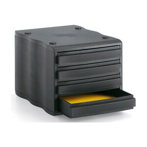 STYRO Schubladen-Element Styrowave 4 Schubladen schwarz